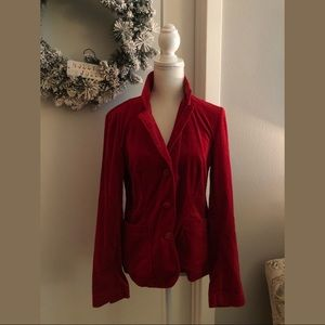 Tribal Red Velvet Blazer